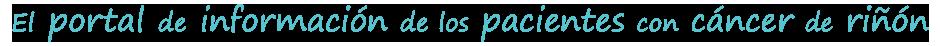 Slogan Cáncer de Riñón España
